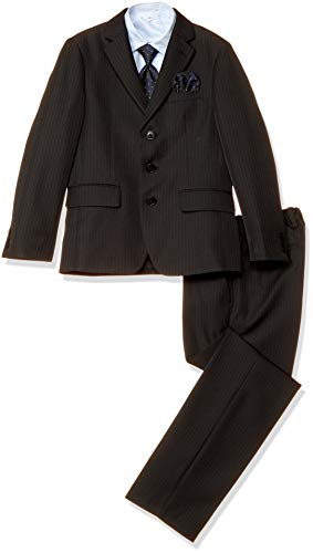 [オリバーハウス] [OLIVER HOUSE] 卒業式 スーツ 男子 (フォーマルスーツ 5点セット) 小学校 男の子 小学生 [ウエスト調節可] 子供服 ジュニア ボーイズ (140 150 160 170cm) クロ 日本 160CM (日本サイズ1
