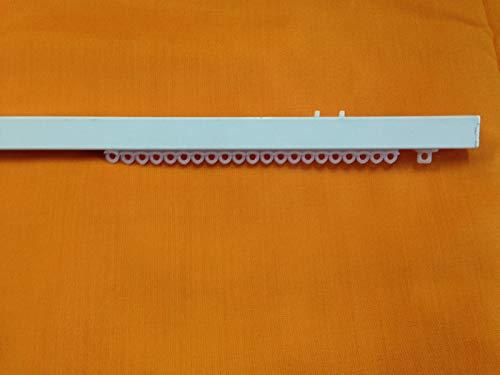 TENDAGGIMANIA Binario SCORRITENDA in Alluminio Bianco LINEARE RETTO, Movimento A Corda e Strappo (Manuale), Completo di Tutti Gli Accessori, Varie Misure (Movimento Manuale, 200 CM)