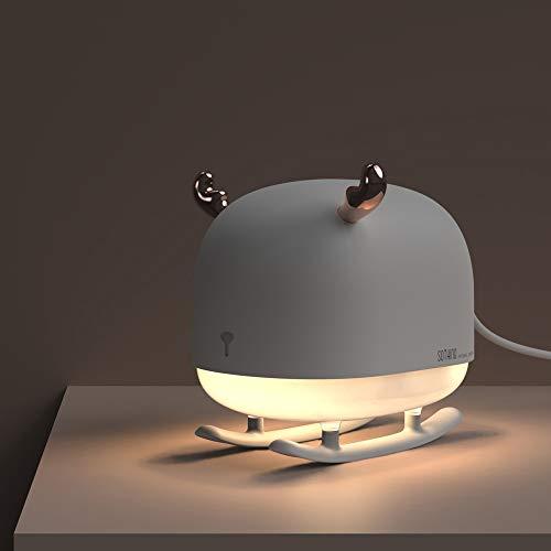 UIQELYS Mini reno USB humidificador niebla luz noche