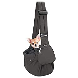 top 10 dog papoose sling SlowTon pet strap, comfortable stiff floor support Adjustable sling for small dogs …