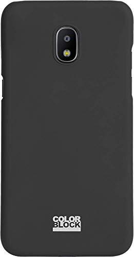 Semi-Rigid Case for Samsung Galaxy J3 2017 Grey with Colorblock Design