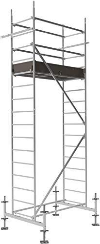ALTEC Rollfix® 1.0 500 | 5m AH | hvst. Fußplatten | Standardtraverse | Made in Germany | TÜV&GS | belastbar 200kg/m² | Alu Arbeitsgerüst | Baugerüst | Fahrgerüst