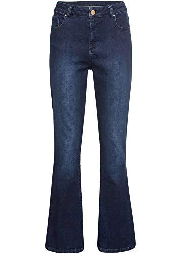 bonprix Jeans mit Boot-Cut Dark Denim 40 für Damen