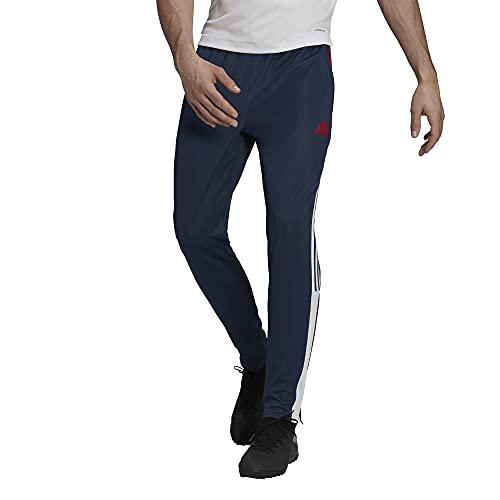adidas Pantalones Tiro Track para hombre - 22992, Pantalones deportivos, XS, Crew Navy/Vivid Rojo/Blanco