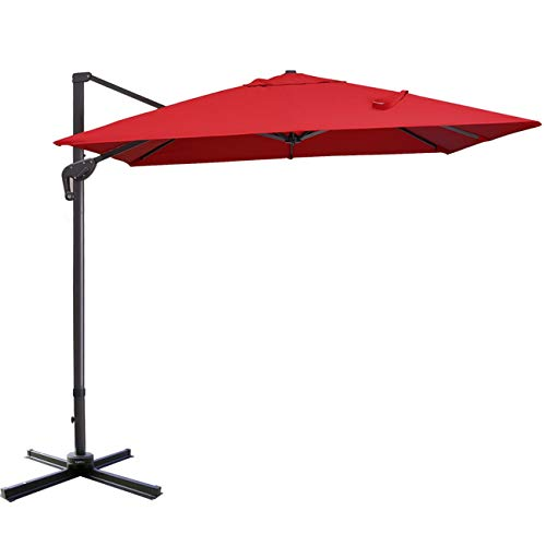Sunnyglade 10x13ft Patio Offset Hanging Umbrella...