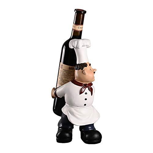 TDOYO Botelleros Vino Sostenedor De Botellas, Abstract Chef Diseño, Gracioso Estatua Escultura Figurilla para El Hogar Moderno Bar Salón Mesa De Cocina,A