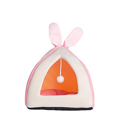 Tfwadmx Casa de hámster cama linda jaula cálida tienda de campaña acogedora nido accesorios para chinchilla anímica pequeña erizo, conejo, cobaya.