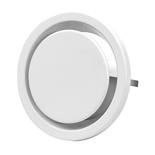 Ø 160mm Abluft Tellerventil Abluftventil Stahlblech Weiß Rund für Rohranschluss Ø DIN 160mm