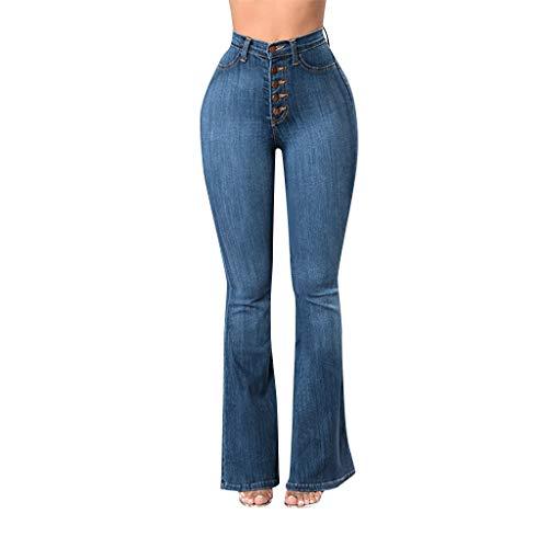 STRIR Vaqueros Talla Grande Mujer,Mujeres De Cintura Alta Pantalones Vaqueros Pantalones Largos Damas Denim Pantalones Acampanados Pantalones De Campana