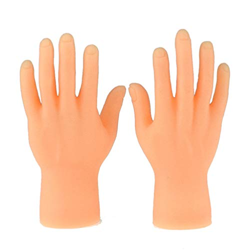 Toyvian Tiny Hand Fingerpuppen Little Finger Requisiten für Storytelling Playtime Supplies Karneval Party Favors 2 Stück, plastik, Hand, 8 * 4cm