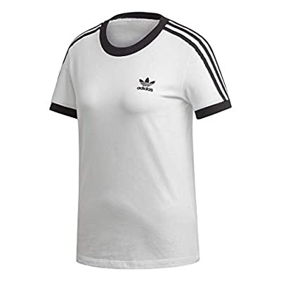 adidas Originals womens 3-Stripes Tee White/Black Medium