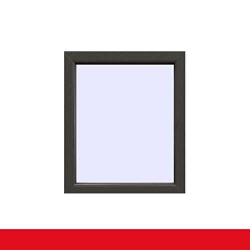 Festverglasung Fenster Quarzgrau beidseitig 1 flg. Fest im Rahmen, Glas:2-Fach, BxH:700x1300