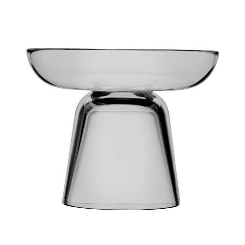 Iittala Nappula Kandelaar van glas - Matti Klenell, grijs, 107 mm