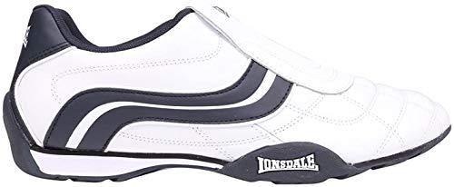 Lonsdale Camden Herren Turnschuhe Slipper Sportschuhe Sneaker Freizeit Schuhe Weiß/Marineblau 8 (42)