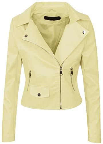 in similpelle con scollo rotondo colore: nero giacca da motociclista Rock Creek Selection D-126 da donna taglie: S-XXL