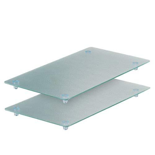 Zeller 26207 Glasschneideplatten 2-er Set f. 4-Plattenkochfeld 52 x 30 x 3 cm