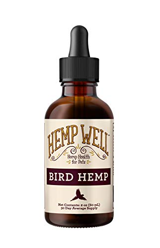 Hemp Well Bird Hemp Oil –Reduces Feather Plucking, Suppresses Destructive Behavior and Promotes Relaxation, Immune Support, Organically Sourced – 2 Ounces