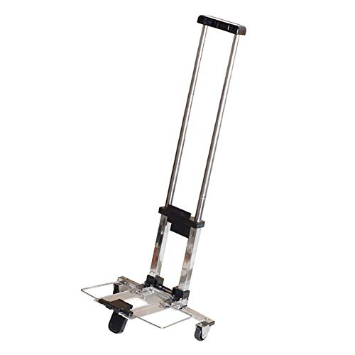 WEIZI Aluminum foldable handcart climbing stairs climbing sack truck luggage trolley with 2 wheels shopping trolley loading capacity 25 kg for industrial warehouse trips