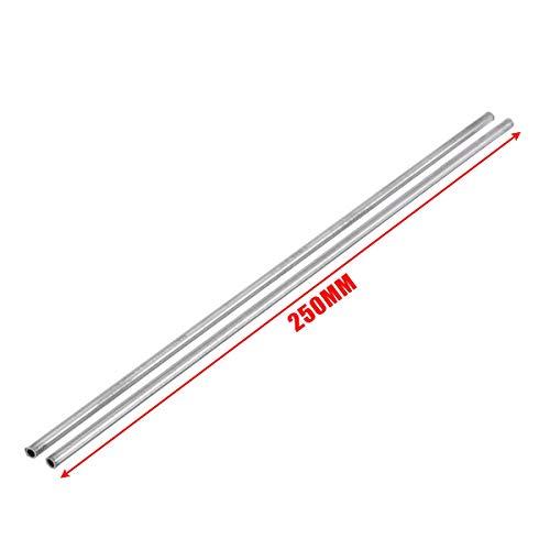 MXBIN 2 Stück Silber 304 Edelstahl Kapillarrohr 4mmx3mmx250mm Mayitr for Industrie-Tool Hardware-Reparaturwerkzeuge
