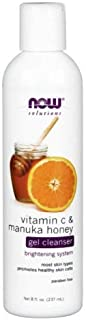 Now Foods Vitamin C & Manuka Honey Gel Cleanser - 8 fl. oz. 3 Pack