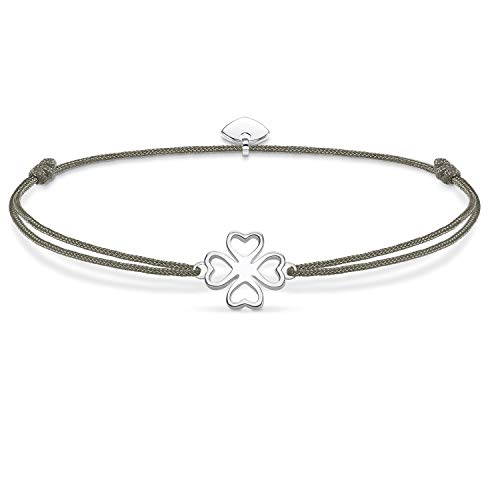 THOMAS SABO Damen Armband Little Secret Kleeblatt 925 Sterling Silber LS017-173-5-L20v