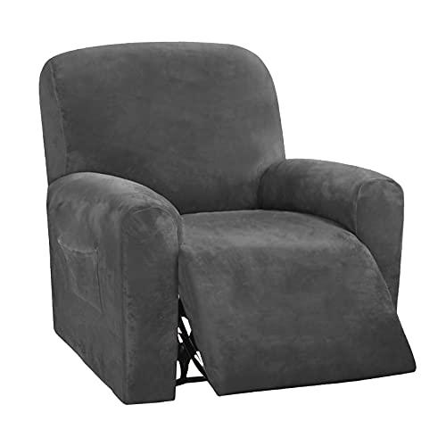 HKPLDE Recliner Sofa Covers 1 Seater Non-slip Slipcover Waterproof Velvet...