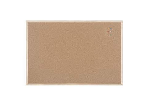 Bi-Office Korktafel / Pinnwand mit Holzrahmen- 5 Größen wählbar - 90 x 60 cm