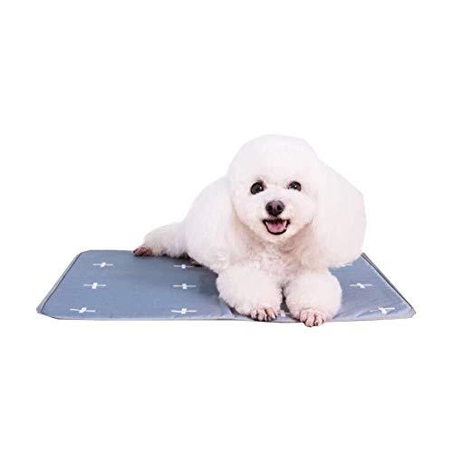 XFSE Colchoneta de hielo para mascotas, cómoda alfombrilla de refrigeración para perros, almohadilla de gel no tóxica, activada a presión, adecuada para mascotas en interiores y exteriores (tamaño: L)