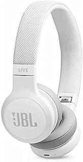 JBL K951849 Live 400BT Wireless On-Ear Voice Enabled Headphones (White)