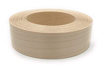 """Edge Supply Brand Birch 1-1/2"""" x 25' Roll Preglued, Wood Veneer Edge Banding, Iron on with Hot Melt Adhesive, Flexible Wood Tape Sanded to Perfection. Easy Application Wood Edging"""
