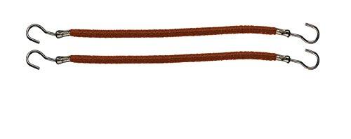 Comair 3110023 Lot de 12 Bandeaux en caoutchouc lisse Marron 10 cm
