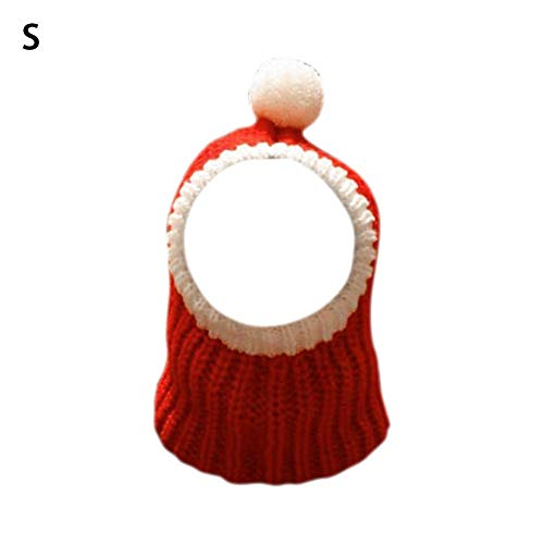 Falliback Weihnachtsmütze für Hunde und Katzen, Weihnachtskostüm, Dekoration für große Hunde, mittelgroße Hunde, Ohrenschutz, Schutz für Kindness, S
