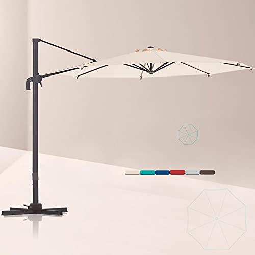 LE CONTE Lyon 10 ft. Cantilever Umbrella with 360...