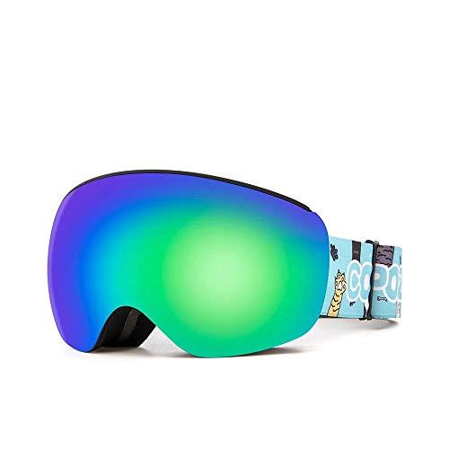 Generieke Skibril voor brildragermagnetische kinderen skibril voor kinderen Uv400 anti-condens-masker bril skiën meisjes jongens snowboardbril met gepersonaliseerde dragers