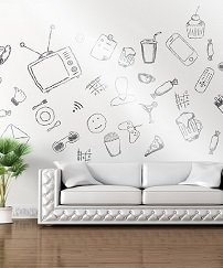 Dry Erase Wallpaper 4 x 8 Feet Extra Large