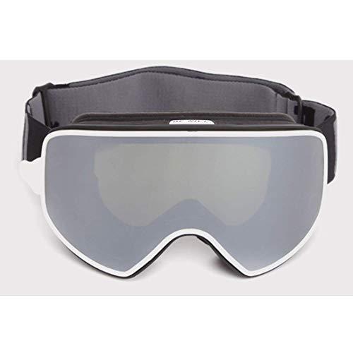 Ski goggles ski-masker set klimmen defogging magneet dubbellaag dubbelglas beginner glaslens zwemmen snorkelen silicium swimming glasses (Color : 5)