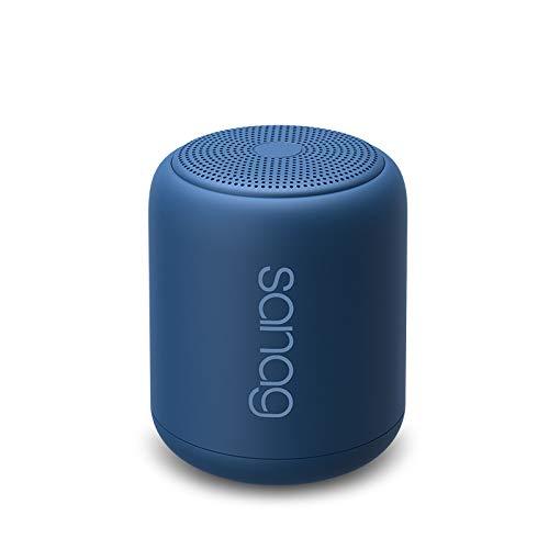 Bluetooth Luidspreker,Draagbare Luidsprekers Bluetooth 5.0 Basseffecten Batterij 1200 mAh 18 uur Speeltijd IPX5 Waterdicht,Mini Bluetooth luidspreker ondersteuning TWS handsfree bellen TF kaart- blauw