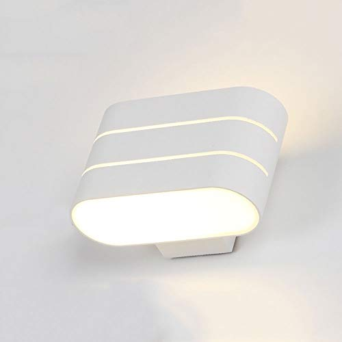 WZXCAP Wandlamp van aluminium, metaal, led, Scandinavisch, modern, wandlamp, voor gebruik binnenshuis, muur, licht voor slaapkamer, woonkamer, lezen, decoratie, verlichting