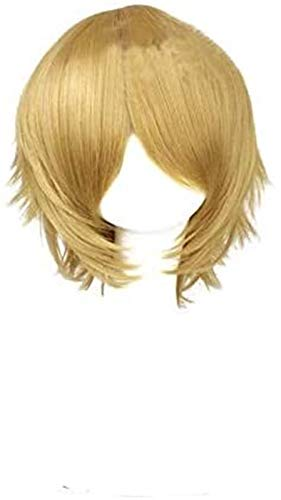 JPSOUP Byakuya Togami Cosplay Wig Short Fluffy Layered Halloween Costume Party Hair