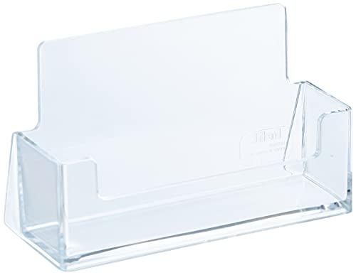 "Helit H2350902 - Visitenkartenständer, \""the helpdesk\"", Kartenformat 85x55 mm, transparent"
