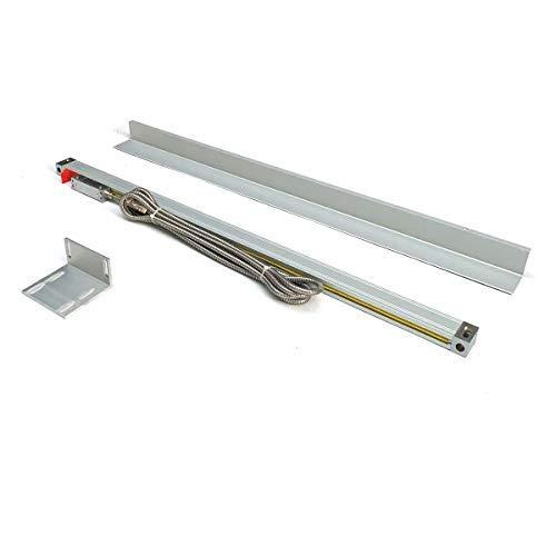 DOMINTY 600mm Hochauflösender Glasmaßstab Lineargeber Linear Encoder Linearmaßstab inkl. Lesekopf und Abdeckleiste für digitale Positionsanzeige Digitalanzeige Drehbank Werkzeugmaschinen