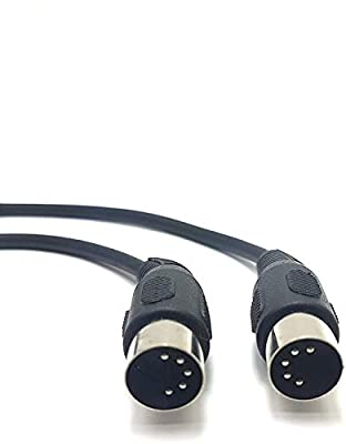 MainCore 50cm 5-pin Midi to 5-pin Midi Audio Cable. for connecting Synths, Keyboards (0.5m)