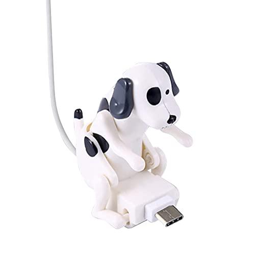 Cable de carga para perros callejeros Funny Humping Dog Cable de cargador rápido para varios modelos Teléfonos móviles Smartphone Tipo-C Blanco