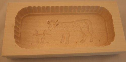 Hofmeister Holzwaren Butterform, eckig, 500 Gramm, Kuh, aus Ahorn-Holz