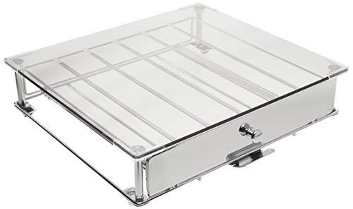 Nifty 6470 Keurig Brewed Glass Top KCup Rolling DrawerNickel