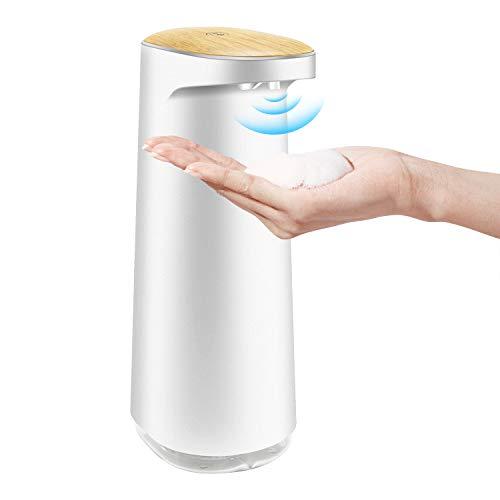 OUYANG Dispensador Automático de Espuma de Jabón 450 ml Densor Infrarrojo, sin Contacto, Recargable y Resistente al Agua, para Baño...