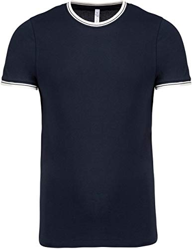 Kariban T-Shirt Maille piquée col Rond Homme - Navy/Off White, 3XL, Homme