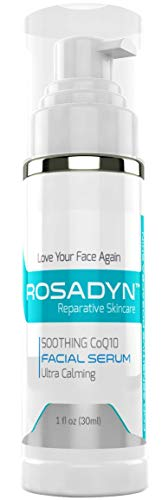 Rosacea Cream and Sensitive Skin Care Serum by Rosadyn - Treatment Gel for Facial Redness Relief, Face Moisturizer, Calming Lotion and Anti Aging Cream in One - With Natural and Organic Ingredients