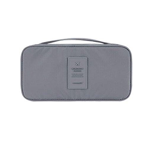 DELEY Portable Imperméable Soutien-Gorge Organisateur Bag Cosmétiques Sac De Rangement Gris