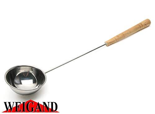 Weigand Saunakelle aus Edelstahl mit Holzgriff I Ca. 48 cm lang I Liegt gut in der Hand und ist...